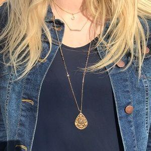 LOFT Three Tiered Necklace
